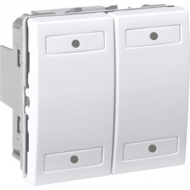 Unica KNX Blanc 4 bouton-poussoirs - Schneider Electric