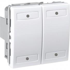 Unica KNX Blanc 4 bouton-poussoirs - Schneider Electric