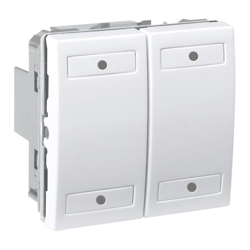 unica knx blanc 4 bouton poussoirs schneider electric. Black Bedroom Furniture Sets. Home Design Ideas