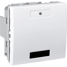 Unica KNX Blanc 2 bouton-poussoirs récepteur infrarouge - Schneider Electric