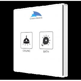 Square TMD - Interrupteur capacitif KNX - 2 boutons et sonde de température personnalisé - Zennio