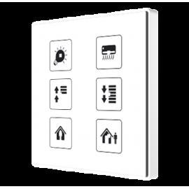 Square TMD - Interrupteur capacitif KNX - 6 boutons et sonde de température personnalisé - Zennio - ZVI-SQTMD6-CUS