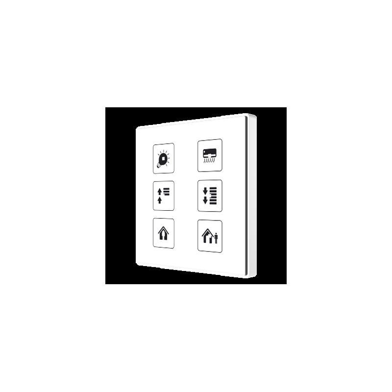 Square TMD - Interrupteur capacitif KNX - 6 boutons et sonde de température personnalisé - Zennio