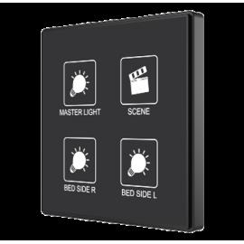 Square TMD - Interrupteur capacitif KNX - 4 boutons et sonde de température personnalisé - Zennio - ZVI-SQTMD4-CUS