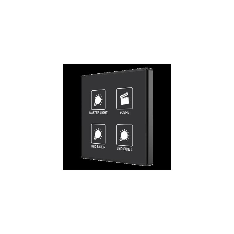 Square TMD - Interrupteur capacitif KNX - 4 boutons et sonde de température personnalisé - Zennio