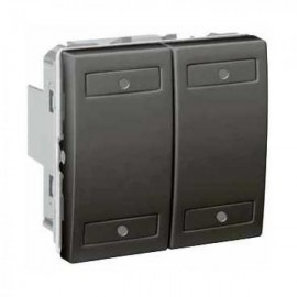 Unica KNX Graphite 4 bouton-poussoirs - Schneider Electric