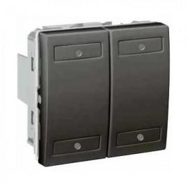 Unica KNX Graphite 4 bouton-poussoirs - Schneider Electric
