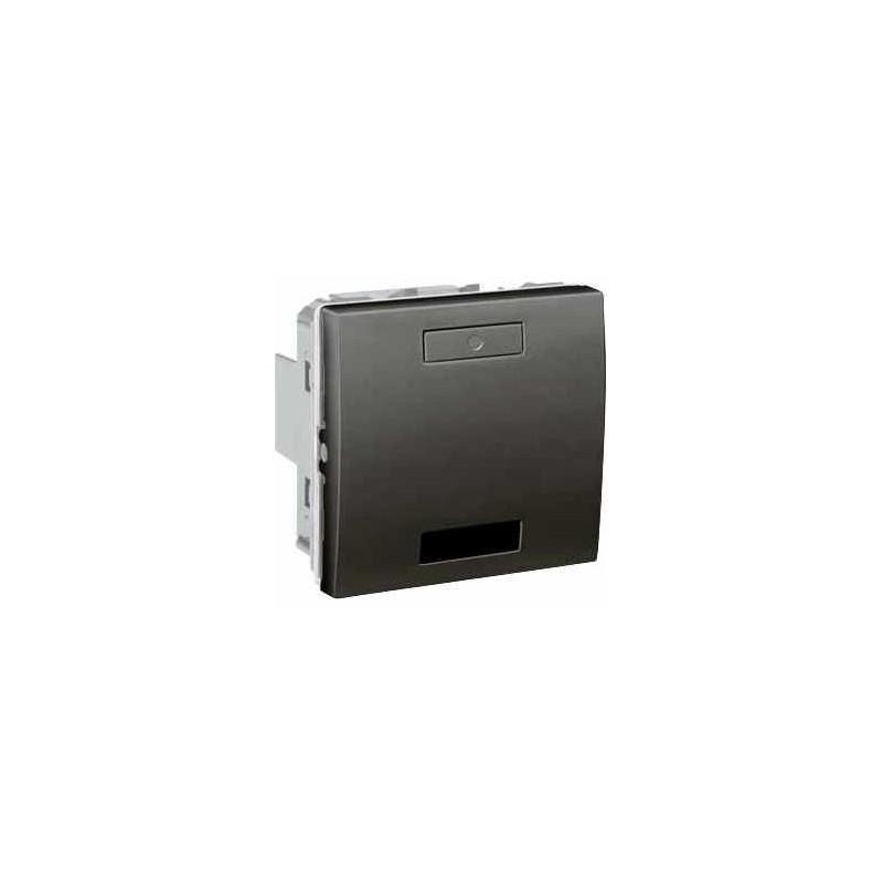 Unica KNX Graphite 2 bouton-poussoirs récepteur infrarouge - Schneider Electric