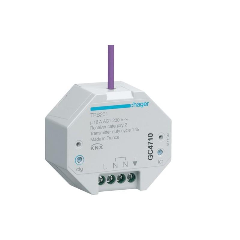 TRB201 - 1 Sortie 16A à encastrer KNX radio QL - Hager