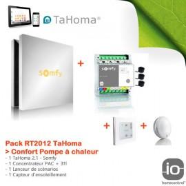 Pack RT2012 TaHoma Confort Pompe à chaleur
