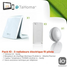 Pack chauffage électrique fil pilote - TaHoma V2 - Somfy