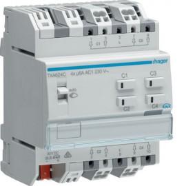 TXA624C - Mod. KNX 4 sorties volets/stores 230V~ /NE - Hager