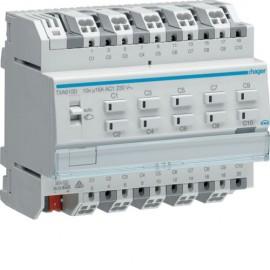 TXA610D - Module KNX 10 sorties 16A/230V~ charge capa/NE - Hager