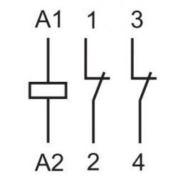 Relais modulaire 2N/C 25A 250VAC 22.32.0.230.4440 - Finder