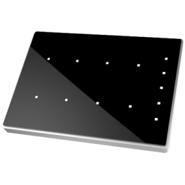 Touch-MyDesign Plus - Interrupteur capacitif KNX - Thermostat - Cadre polycarbonate - 6 boutons - Zennio - ZVI-TMDP6-P