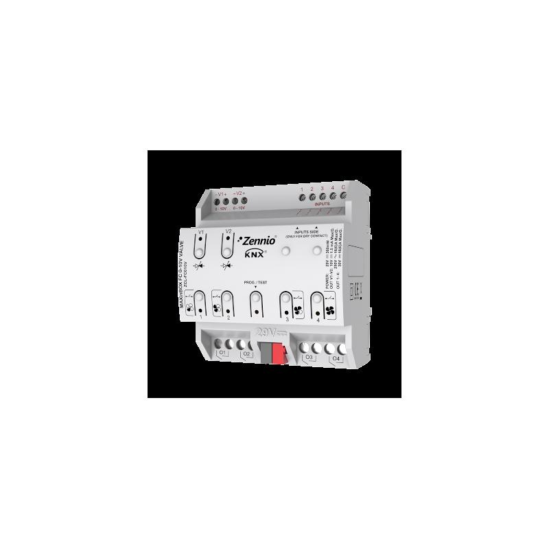 MAXinBOX FC 0-10V VALVE - Contrôleur de ventilo-convecteur de 2 ou 4 tubes avec vannes - Zennio - ZCL-FC010V