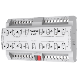 MAXinBOX FANCOIL 4CH2P - Actionneur de fan-coil pour contrôle de jusqu'à 2/4 unités de fan-coil de 2 tubes - Zennio - ZCL-4XFC2P