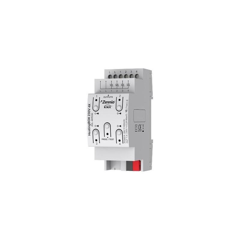 HeatingBOX 230V 4X - Actionneur de chauffage avec sorties à 230VDC - 4 canaux - Zennio - ZCL-4HT230