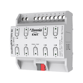 HeatingBOX 230V 8X - Actionneur de chauffage avec sorties à 230VDC - 8 canaux - Zennio - ZCL-8HT230
