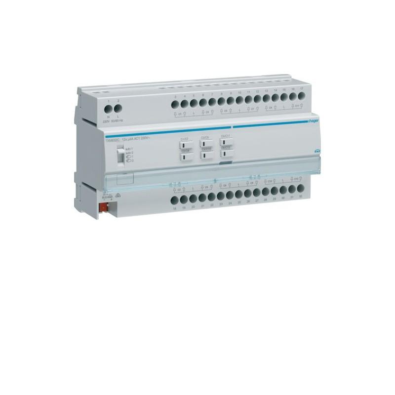 TXM632C - Module KNX 12 sorties volets/stores 230V~ /NE - Hager
