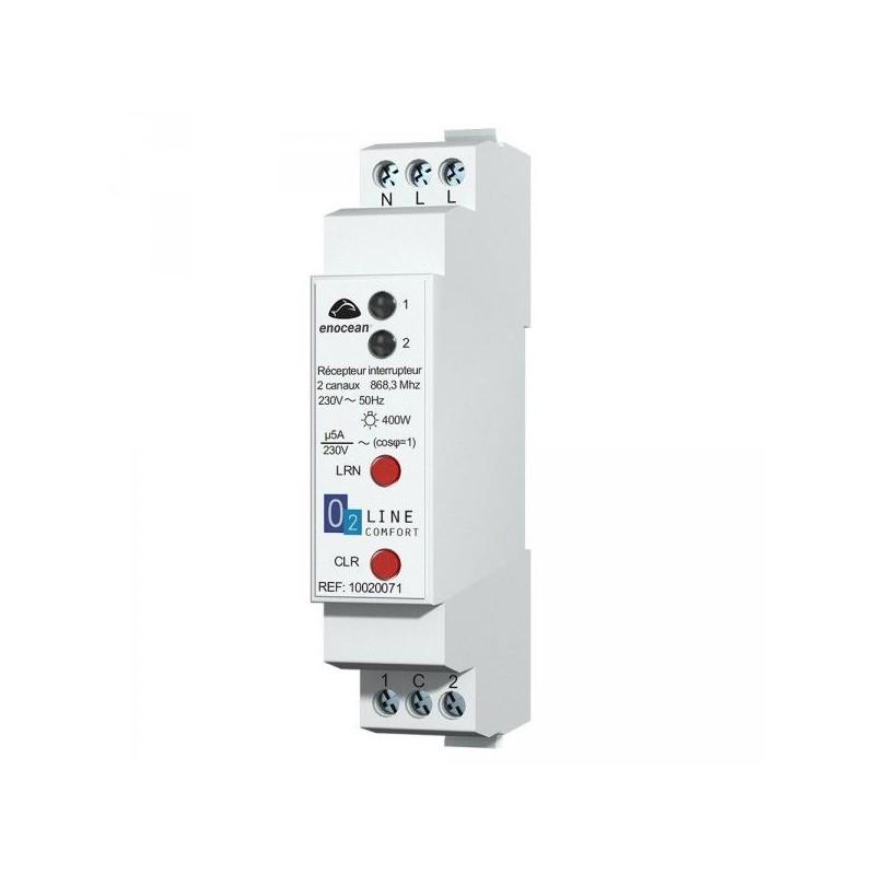 Récepteur rail DIN 5A 2 canaux - EnOcean - TRIO2SYS - T2S10020071