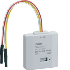 TRM702A - Module 2 entrées a encastrer pile KNX radio - Hager