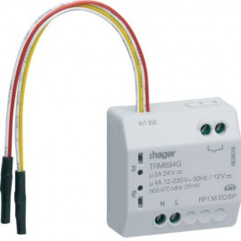 TRM694G - 1 sortie LDP 4A + 2 entrees knx radio - Hager
