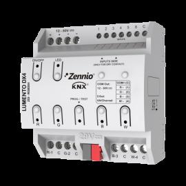 Lumento DX4 Contrôleur LED 4 canaux et montage sur rail DIN - Zennio - ZDI-RGBDX4