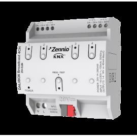 DALIBOX Broadcast 4CH - Interface KNX - DALI broadcast jusqu'à 4 canaux de jusqu'à 20 ballast par canal - Zennio - ZDI-DLB4