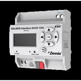 DALIBOX Interface 64/32 Module interface KNX-DALI pour montage sur rail DIN (4.5 unités) - Zennio - ZDI-DLI