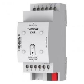 RailQUAD 8 - Module à 8 entrées analogiques-numériques pour rail DIN - Zennio - ZIO-RQUAD8