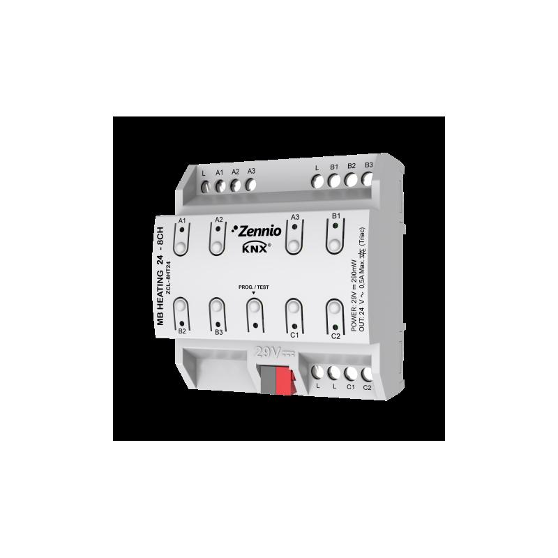HeatingBOX 24V 8X - Actionneur de chauffage avec sorties à 24 VAC - 8 canaux - Zennio - ZCL-8HT24