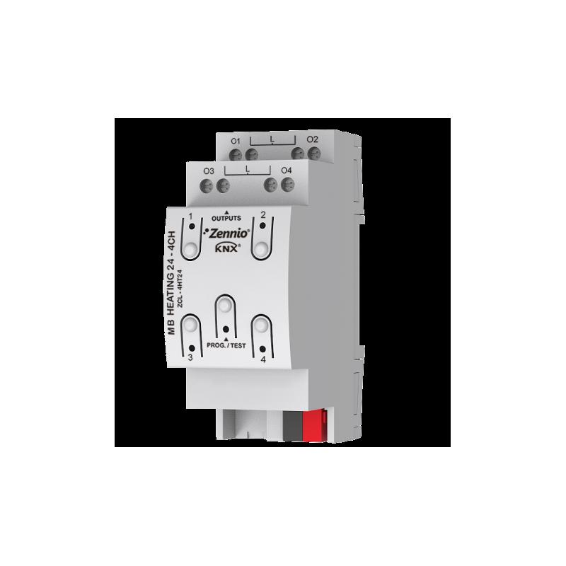 HeatingBOX 24V 4X - Actionneur de chauffage avec sorties à 24 VAC - 4 canaux - Zennio - ZCL-4HT24