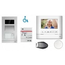 Kit ABB Welcome M portier vidéo mains libres -badges - passerelle IP 3.0 pour smartphone - ABB