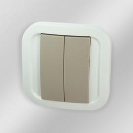 Double Interrupteur radio Z-Wave - Cozi White - NodOn - CWS-3-1-01