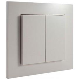 Exclusiv 55 - plaque 1 poste - blanc pur  - Lingg & Janke