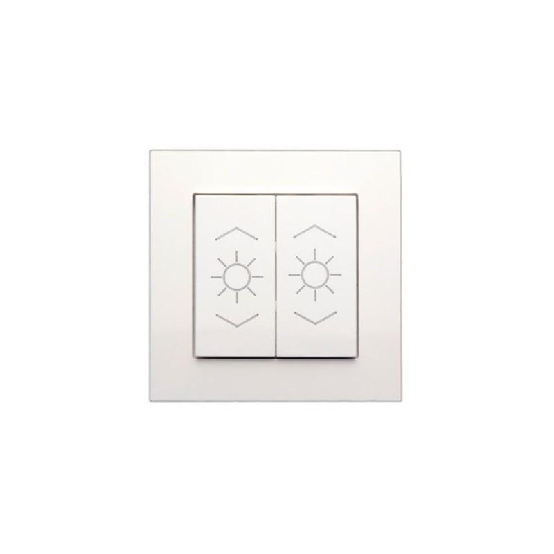 Enjoliveur 2 touches lumière - blanc pur - FL-2-L -  Lingg & Janke