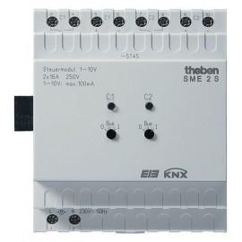 Unité de commande 1-10 V à 2 canaux MIX - Extension (Sans BCU) - SME 2 S KNX - Theben - 4910274
