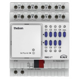 Actionneur 8 canaux MIX2 - RMG 8 T KNX - Theben - 4930200