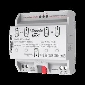 DIMinBOX DX2 - Actionneur variateur universel (RLC, LED, CFL) pour rail DIN - Zennio