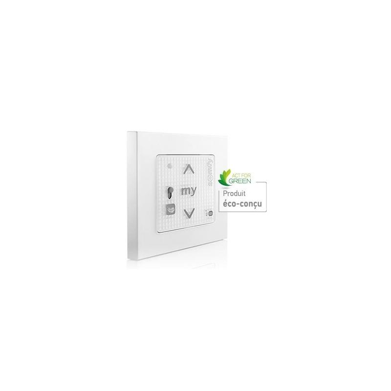 Point de commande Smoove RS100 io-homecontrol Blanc + Cadre - Somfy - 1800445