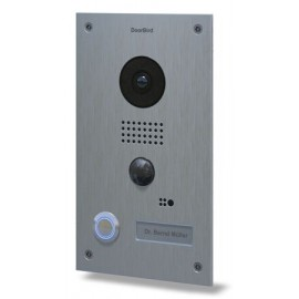 Portier vidéo connecté IP - acier inoxydable brossé - encastré - DoorBird - D202