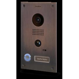 Portier vidéo connecté IP - acier inoxydable brossé (Bronze finish) - encastré - DoorBird - D202B
