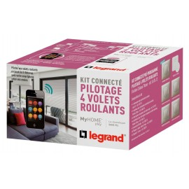 Kit Connecté MyHOME Play - Volets Roulants - Céliane Titane - LEGRAND - 067612