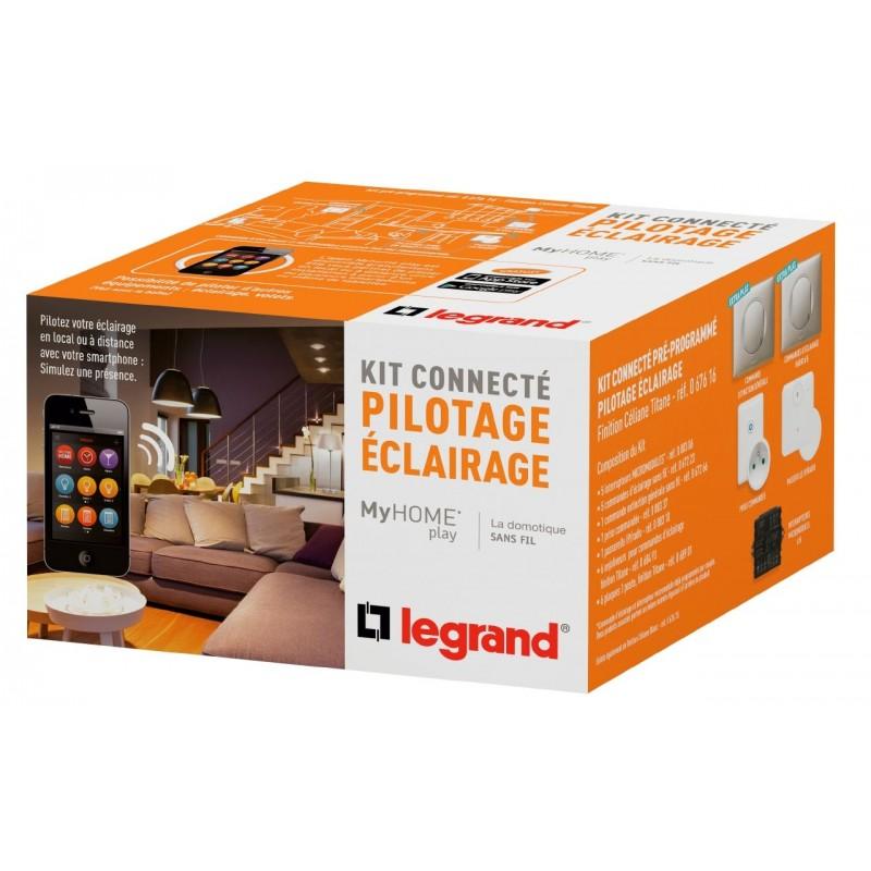 Kit Connecté MyHOME Play - Éclairage - Céliane Titane - LEGRAND - 067616