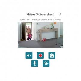 Visidom ICM100 Caméra intérieure motorisée IP HD WiFi - Somfy - 2401189