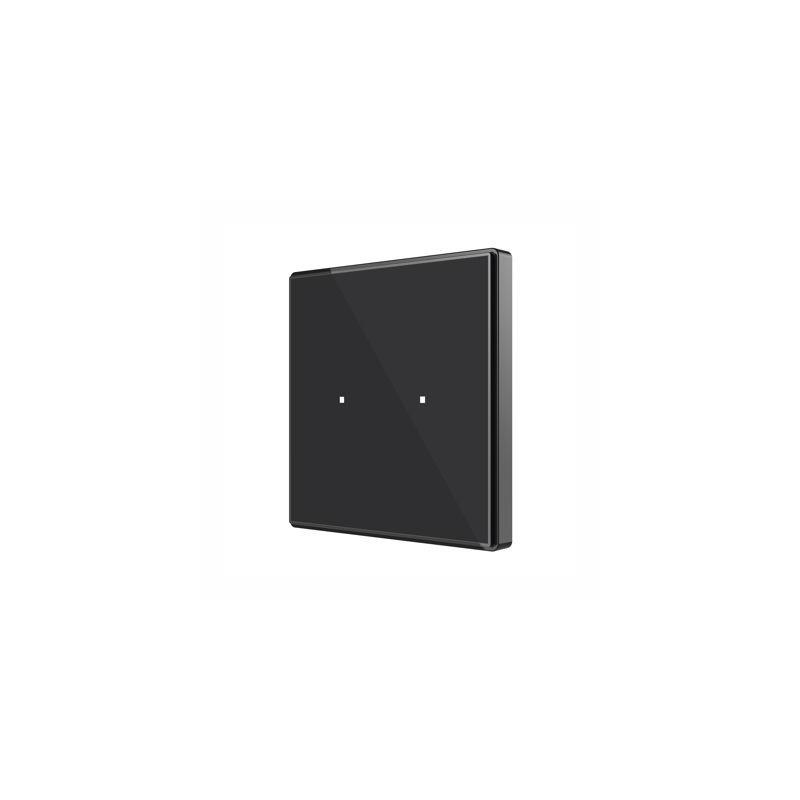 Square TMD - Interrupteur capacitif KNX - 2 boutons et sonde de température - Zennio