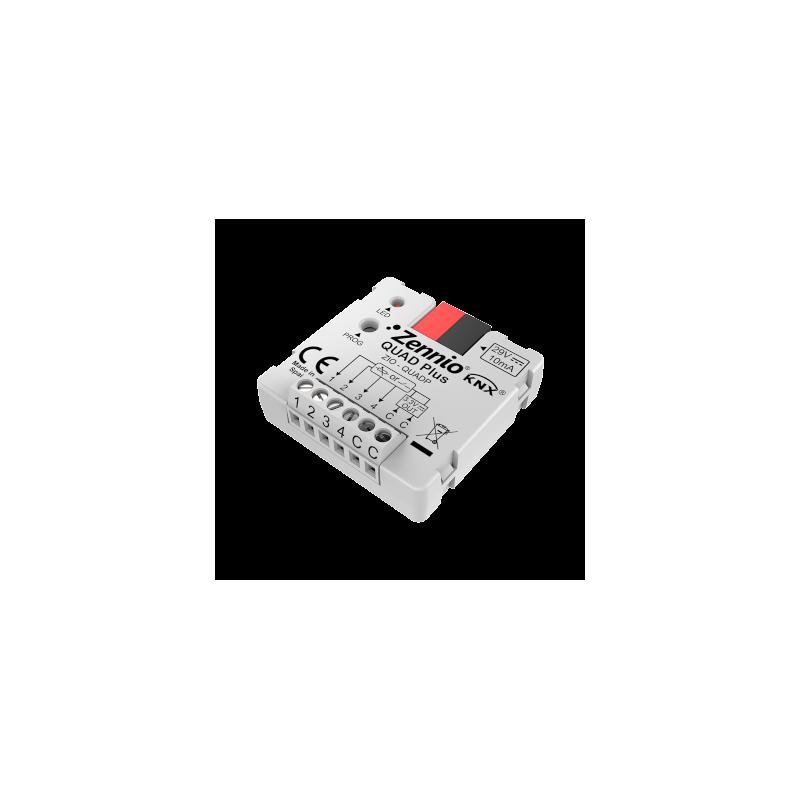 QUAD Plus - Module à 4 entrées analogique-numériques - Zennio - ZIO-QUADP