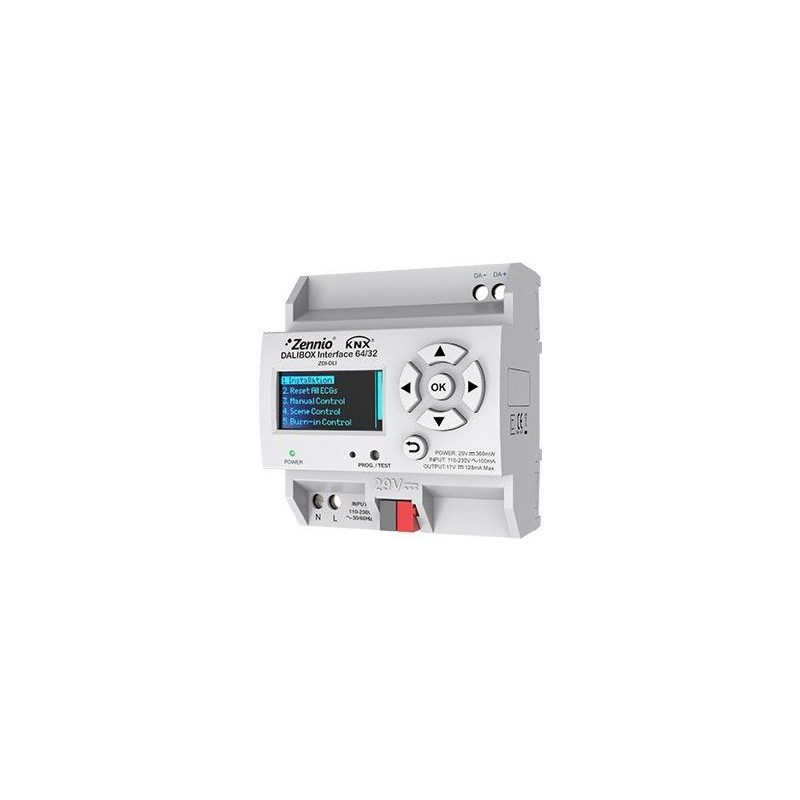 DALIBOX Interface 64/32 - Module interface KNX-DALI pour montage sur rail DIN - Zennio - ZDI-DLI