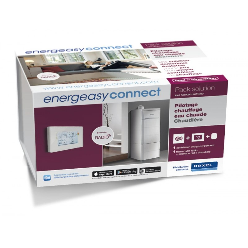 Pack Pilotage chauffage eau chaude thermostat radio - Energeasy Connect